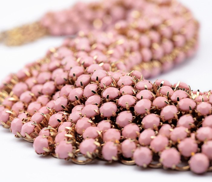 2016 new hot sale wholesale price latest gold platedhandmade 2014 fashion big pink necklace 3