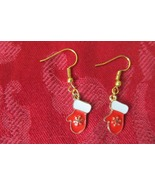 Handcrafted Pierced Earrings - Christmas - Red Mittens - $5.00