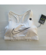 Nike Women Classic Padded Support Bra - AT4288 - White 100 - Size S -  NWT - $21.99