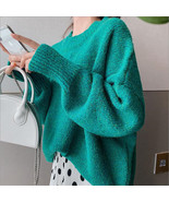 2019 new spring and autumn pullover sweater female loose solid bat sleev... - $32.30