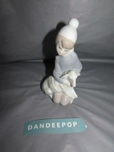 Lladro Boy With Sheep Porcelain Figurine Vintage 1970's 3B XCL2 Spain - $118.79