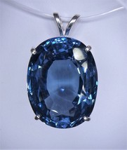 Flawless London Blue Topaz / Sterling Silver Pendant from KT Elegant Jewelry - $124.95
