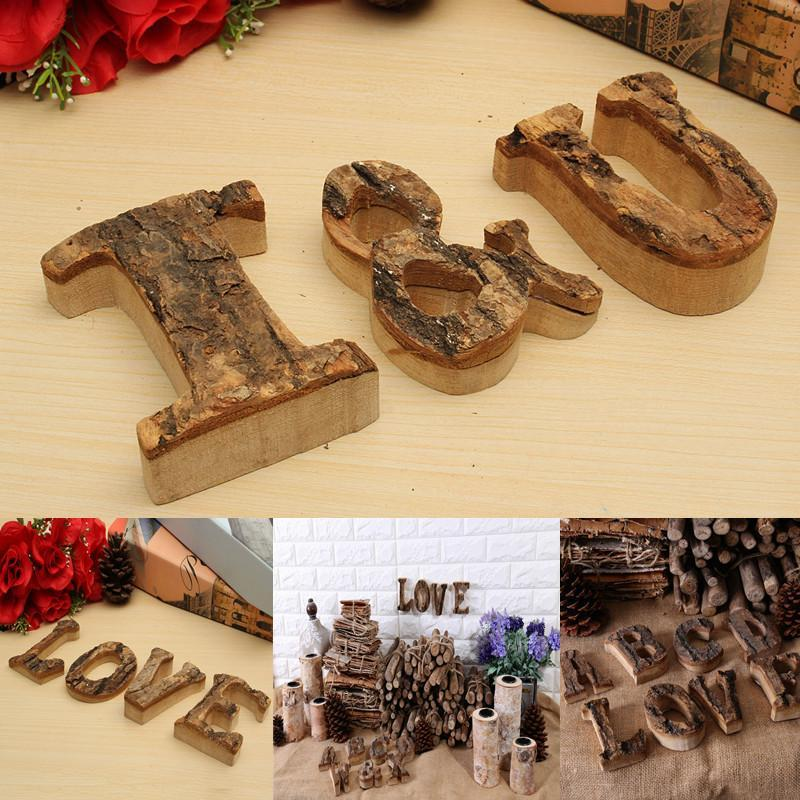 Vintage Wooden Letter Alphabet A-Z-& Name Plaque Signs Wall Door Wedding Decor