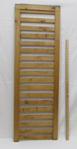 """Repurposed Wood Shutter Style Display Natural Brown 47"""" Long Jewelry Sca... - $24.74"""