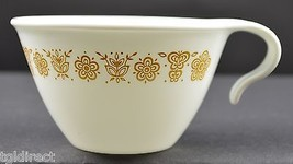 Corelle by Corning Butterfly Gold Pattern Flat Cup Hooked Handle Teacup ... - $4.49