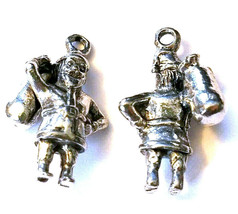 SANTA CLAUS WITH TOY BAG FINE CAST PEWTER CHARM image 2