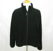 WOOLRICH Men's Solid Black Full Zip Fleece Jacket (Size XL) Drawstring, ... - $17.95