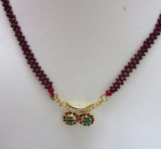Indian Traditional Bollywood Bridal Red Gold Plated CZ Fashion Jewelry Necklace image 2