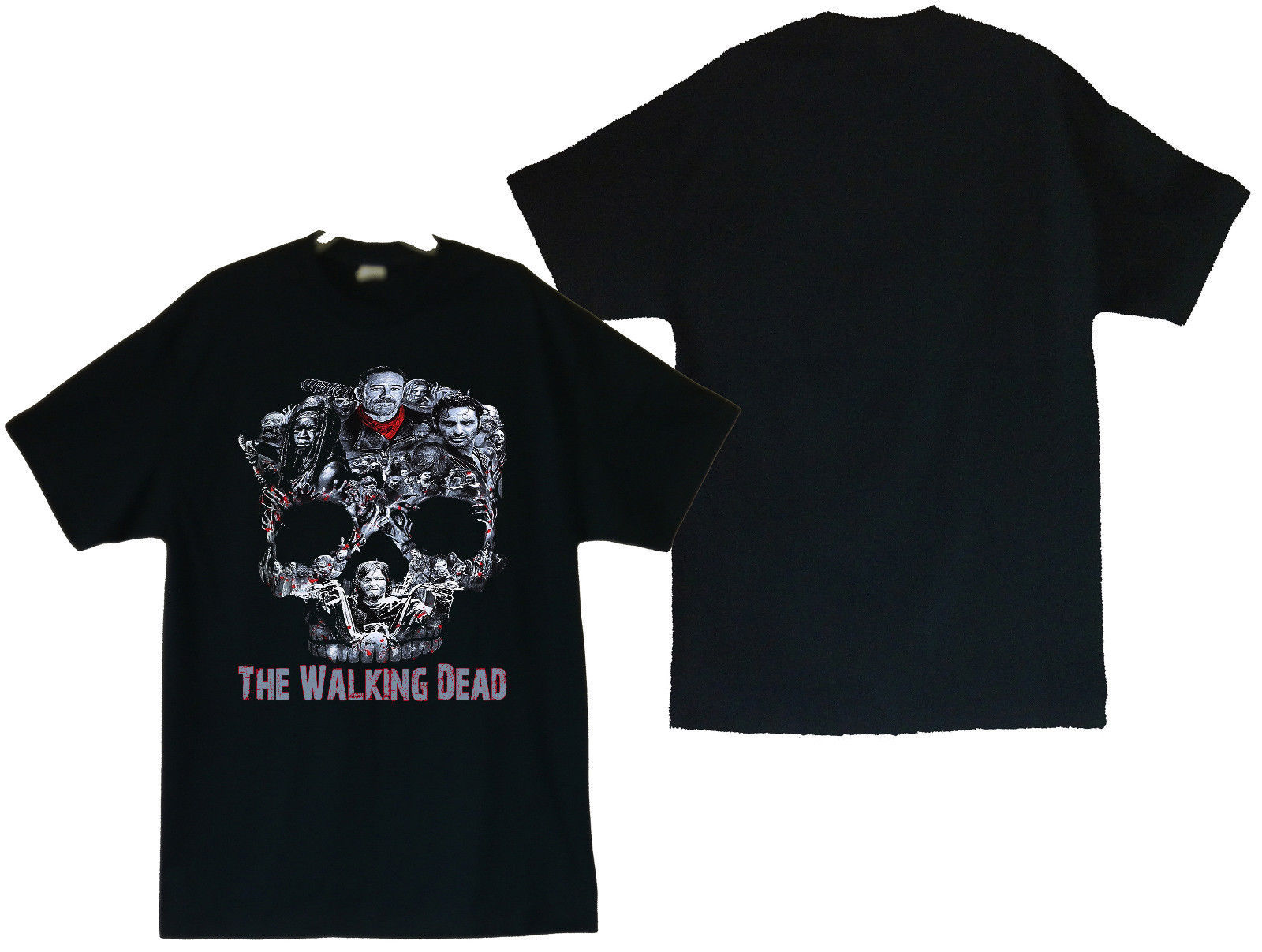 Primary image for The Walking Dead Walker Skull Negan Rick,Michonne,Daryl,Zombies Men's T-Shirt