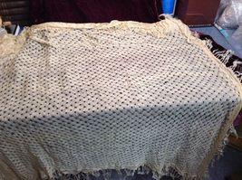 Antique Delicate Handmade Crocheted Silk Wrap image 5