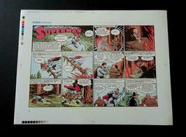 1998 Golden Age Superman DC Action Adventure Comics strip proof artwork ... - $49.49