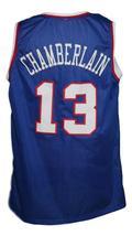Wilt Chamberlain #13 Custom College Basketball Jersey New Sewn Blue Any Size image 2