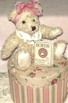 "Boyds Bears ""Chloe"" 9"" Plush Bear & Hatbox- #99379H- HSN Exclusive -NWT - $59.99"