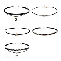 5 Pcs Choker Collar Girls Lady All-Purpose Style Fashion Necklace
