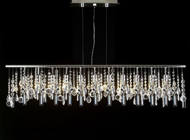 """Modern Contemporary Broadway Linear Crystal Chandelier Lighting Lamp 48"""" Wide - $293.02"""
