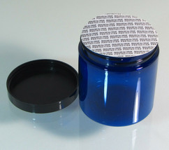 2 Tamper Proof Beauty Containers Blue Cosmetic Jars Security Sealer 8 oz... - $9.95