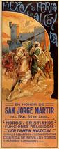 1931 Fiesta Fair In Alcoy Spain In Honor Of San Jorge Vintage Poster Repro Small - $9.90