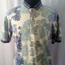 Izod Mens Med Hawaiian Polo Shirt Aloha Yellow Blue Green Island Golf Sh... - $23.99