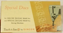 Vintage Touch & Sew by Singer Special Discs Deluxe ZIG-ZAG Model 600 & 6... - $29.39