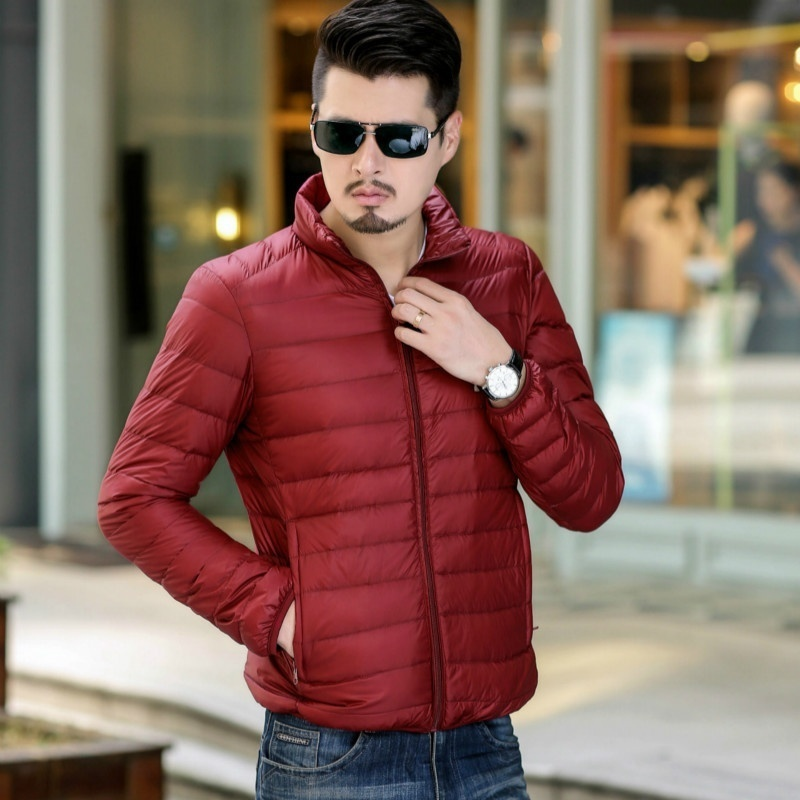 Men/Women Ultra Light Down Jacket Winter Duck Down Jackets Men's Stand Collar Lo