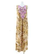 Linea Louis Dell'Olio Island Floral Maxi Dress Orchid Mocha M NEW A308469 - $30.67