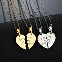 You are my person  Two Halves Heart Necklace Pendant Love Couple Jewelry For Lov - $13.32