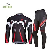 ZEROBIKE Men's Breathable Long Sleeve Cycling Jersey Fast Drying Mesh Cycling Cl - $38.60