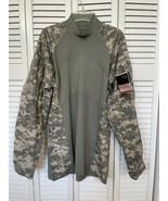 NWT MASSIF Army Multicam Combat Shirt Flame Resistant FR Military Camo ACS L - $35.63