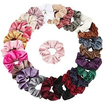 Velvet Scrunchies 24 Assorted Scrunchies for Hair Accessories for Girls ... - $8.02