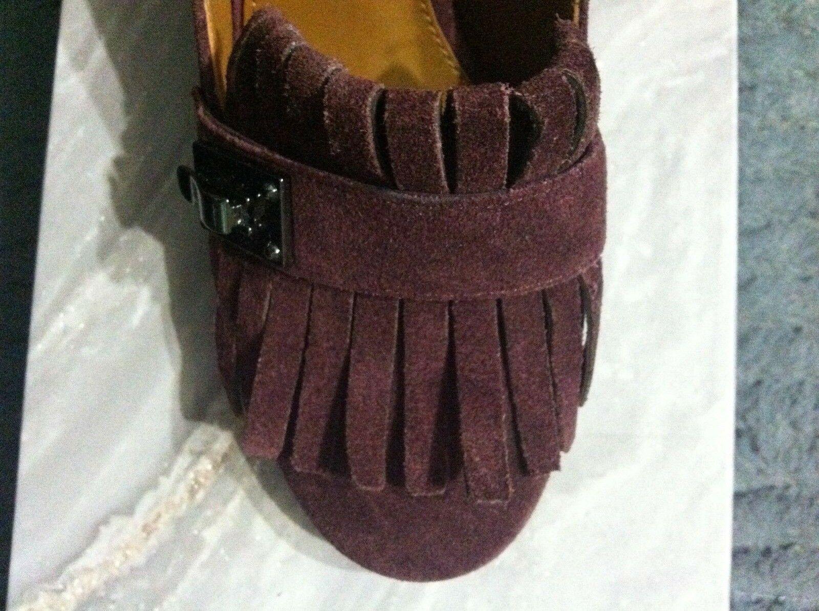 Franco Sarto Damen Neu Burgunder Leder/Wildleder Oberseite Anzug Schuhe Größe:6 image 4