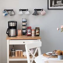 Wallniture Nera Kitchen Organizer Racks Wall Mount Coffee Mug Holder Wrought Iro image 2