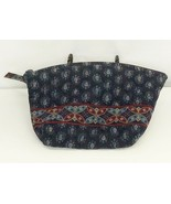 Vera Bradley Cosmetic Bag Pouch Classic Navy Lined Makeup Medium Retired... - $14.80