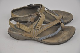 Women's MERRELL Tan Strappy Sandals Size 10 Freesia Bungee Leather Micro... - $29.45