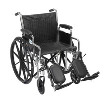 Drive Medical Chrome Sport With Desk Arms and Leg Rests 16'' - $196.85