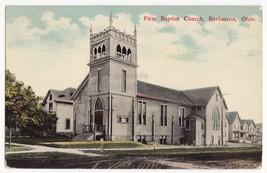 BARBERTON OHIO ~ FIRST BAPTIST CHURCH ~ ca 1910s vintage postcard - $6.95