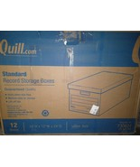 """Quill Brand Medium-Duty Storage Boxes Lift-Off-Lid, Letter, 12/Ct 10""""x12... - $66.40"""