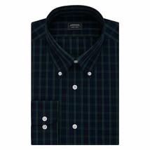 Arrow Dress Shirt Men Blue Green Plaid 19 34/35 Classic Big Fit No Wrink... - $21.77