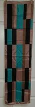 Vintage scarf multi-color rectangular design - $17.62