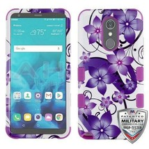 Purple Hibiscus Flower Romance TUFF Hybrid Cover for LG Stylo 4 Plus/Sty... - $12.38