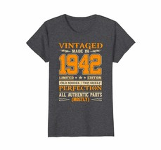 Funny Shirts - Legends Vintage Made In 1942 76th Birthday Gift 76 years ... - $19.95