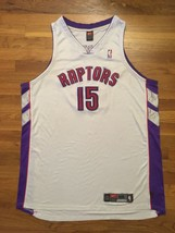 Authentic 2002-03 Nike Toronto Raptors Vince Carter Home White Jersey 56 - $309.99