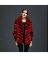 Red Chinchilla Fur  Jacket - $3,861.00