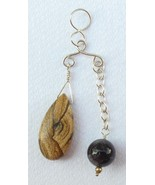 "Sterling Silver ""In-Balance"" Pendant with Picture Jasper and Amethyst - $50.00"
