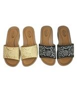 Stalina Women's DW 7732 Tan Black Brown Slip On Slide Sandals Sz 6.5 Pai... - $35.23