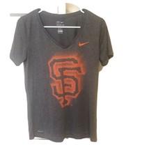 Women's San Francisco Giants Nike Dri-Fit T-Shirt Gray Size Medium - $9.49