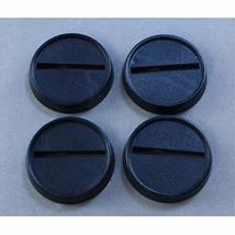 1in Round Plastic Miniature Gaming Base with Slot (Pack of 18) Reaper Miniatures - $4.83