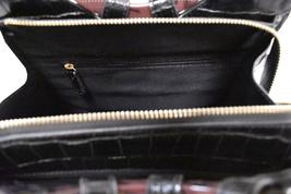 Women's Embossed Faux Crocodile Pattern Handbag Vegan Textured Leather Purse image 5