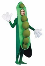 Peas in a Pod Adult Costume Vegetable Food Halloween Party Unique Cheap ... - $59.99