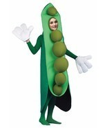 Peas in a Pod Adult Costume Vegetable Food Halloween Party Unique Cheap ... - €53,25 EUR