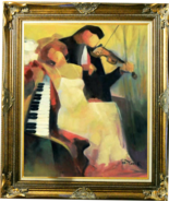 """GHOLAM YUNESSI-""""The Key To Love""""-Framed ORIGINAL Oil/Canvas/Hand Signed/COA - $3,182.50"""